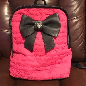 Pink Betsey Johnson backpack